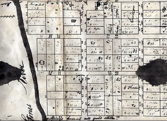 Original Lot Layout of Old Jefferson