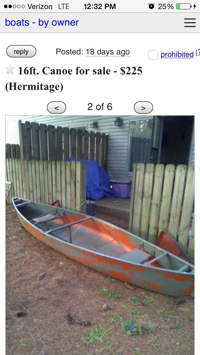 One ugly canoe